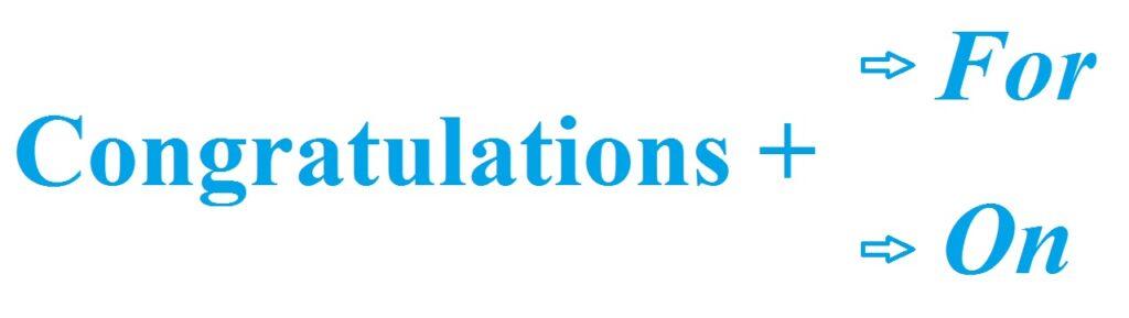 Phân biệt ý nghĩa Congratulations On và Congratulations For.